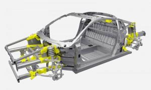 NSXスペースフレーム構造