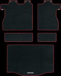 フィットRS-ラゲッジマット赤黒