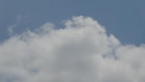中途半端な雲